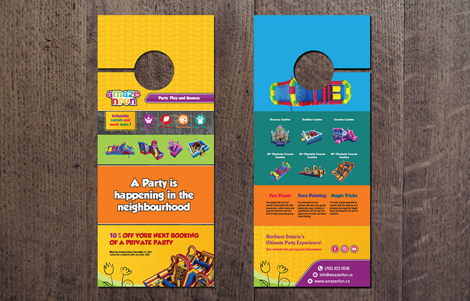 Graphic Design Portfolio image of A Maze N Fun Printed Collateral